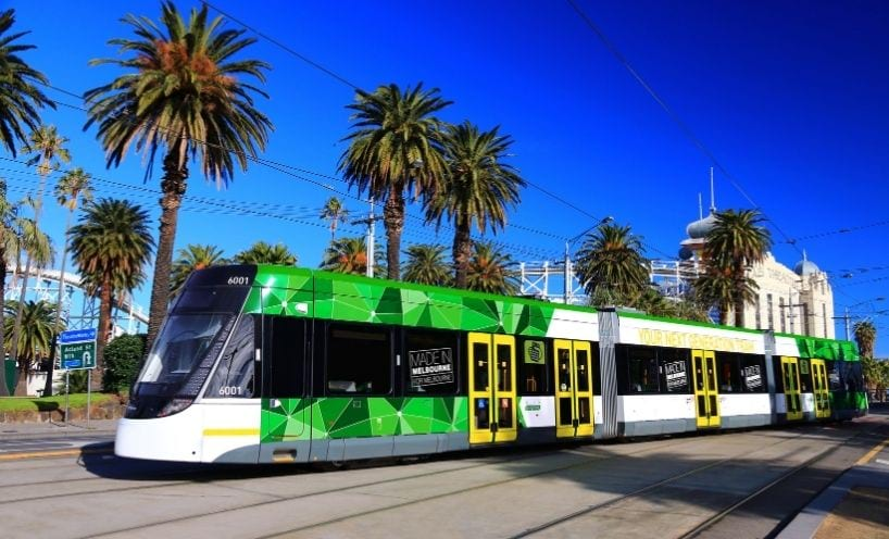 Tram in metro Melbourne