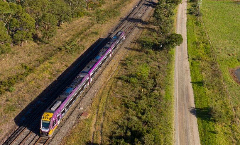 VLocity train in regional Victoria