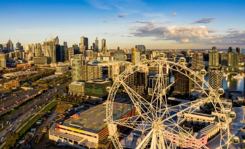 View of Melbourne city skyline