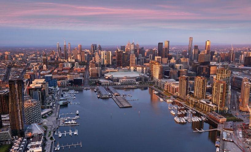 Aerial of Docklands