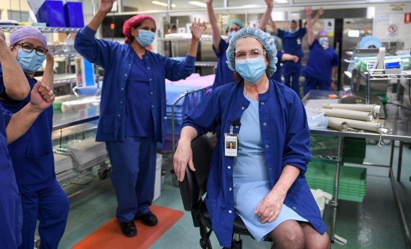 Celebrating medical staff