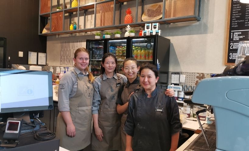 Jamaica Blue Cafe - four women staff members