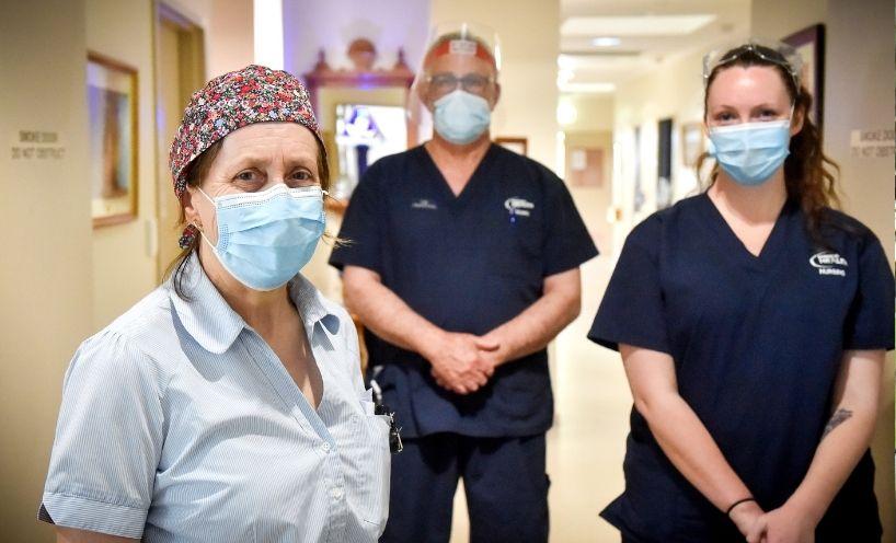 Medical staff in a hospital